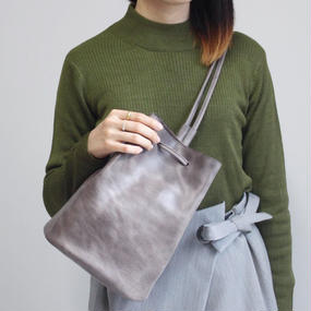 【steef】オリジナル巾着 / グレー