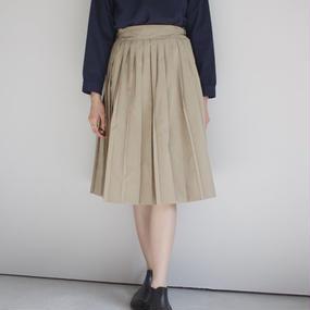 【PULETTE / プレット】プリーツスカート / ベージュ