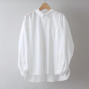 【PULETTE / プレット】プルオーバーB.D.シャツ  /  ホワイト