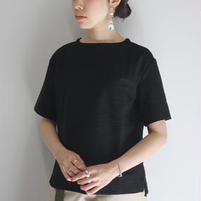 【PULETTE / プレット】ツイードジャージートップ / ブラック(steef別注カラー)