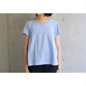 【FilMelange】ANNIE ポケットTシャツ / マリンブルー
