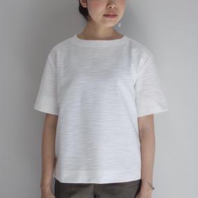 【PULETTE / プレット】ツイードジャージートップ / ホワイト