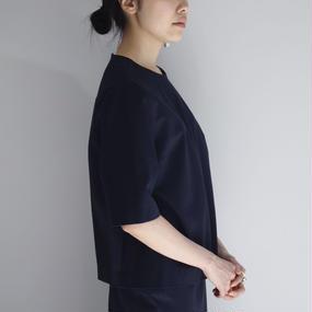 【jens】スムース トップス / ネイビー
