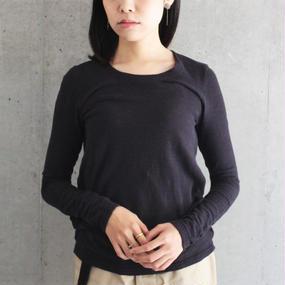【twine】コットンカットソー / ブラック