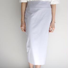 【jens】スムース スカート  /  グレー