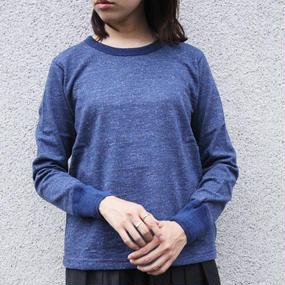 【FilMlange / フィルメランジェ】CADE(ウールカットソー)/ ブルー