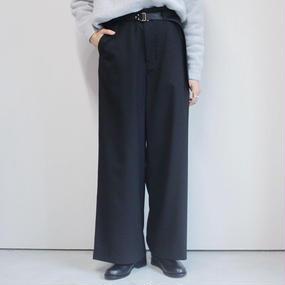 【PULETTE】サマーウールワイドパンツ/ブラック