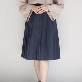 【PULETTE / プレット】プリーツスカート / ネイビー