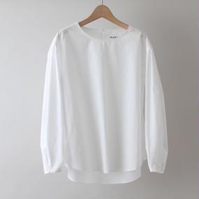 【PULETTE / プレット】プルオーバージグザグステッチシャツ / ホワイト