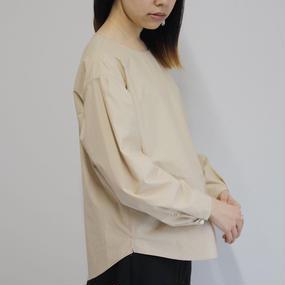 【PULETTE / プレット】プルオーバージグザグステッチシャツ / ベージュ
