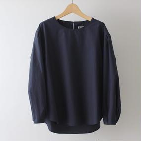 【PULETTE / プレット】プルオーバージグザグステッチシャツ / ネイビー