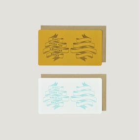 SAB LETTERPRESS CARD SET / THANK YOU