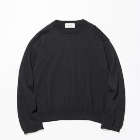 UNITUS(ユナイタス) SS17 L/S Wide Knit Black