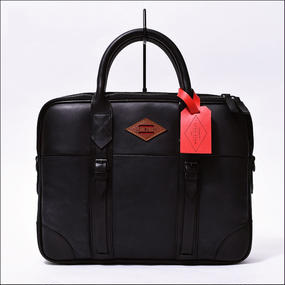 LEON FLAM(レオンフラム) PORTE DOCUMENT ALL BALCK (ALL LEATHER)