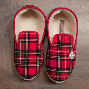 LE SLIP FRANÇAIS(ルスリップフランセ) Room Shoes Red with Green
