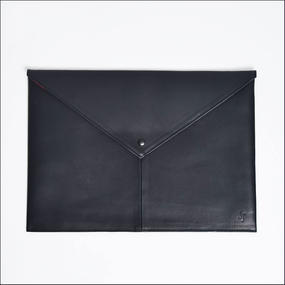 LEON FLAM レオンフラム COMPUTER PAD LEATHER BLACK