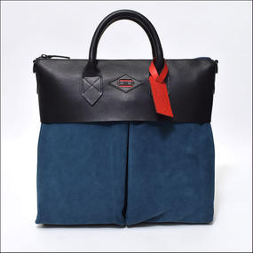 LEON FLAM(レオンフラム) SAC 21H BLUE/NAVY(LEATHER/NUBUCK)