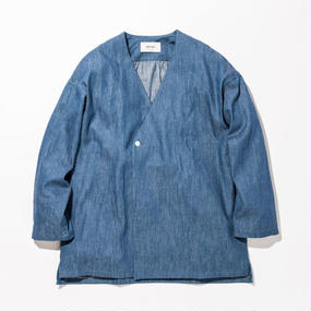 UNITUS(ユナイタス) SS17 Denim Shirts Cardigan Bleach
