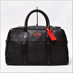 LEON FLAM(レオン フラム) SAC 48H ALL BLACK(ALL LEATHER)
