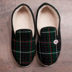 LE SLIP FRANÇAIS(ルスリップフランセ) Room Shoes Green with Red