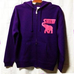 elephant・parka/purple