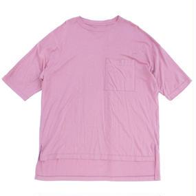 Big Pocket Tee - Tencel Cotton / Sunset Pink