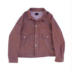 Big Jean Jacket - Tencel Denim / Burgundy