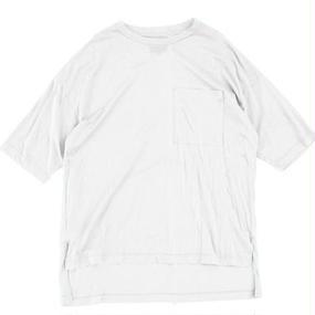 Big Pocket Tee - Tencel Cotton / White