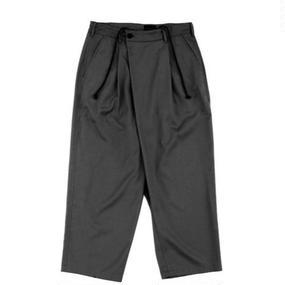 Wrap Trouser 改 - Tencel Slab Gabardine / Black