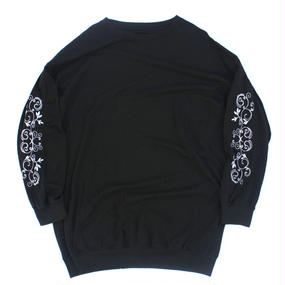 Embroidery Long Sleeve Shirt Blk
