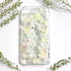 紫陽花のスマホケースiPhone,各種/グリーン