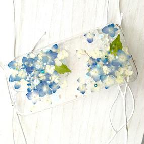 紫陽花のスマホケース/iphone各種/ブルー