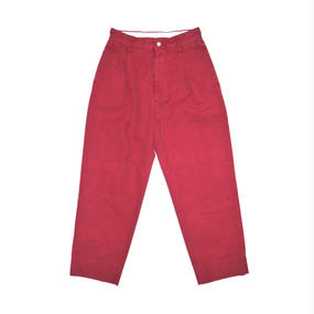 Hight Waisted Ventile Pants.  -Red-
