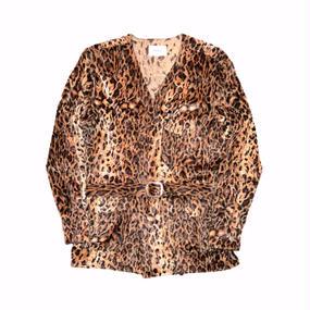 Western Gown Leopard Fur Shirt.