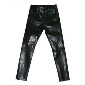 5 Pocket Leather Slim Pant.