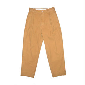 Hight Waisted Ventile Pants.  -Camel-