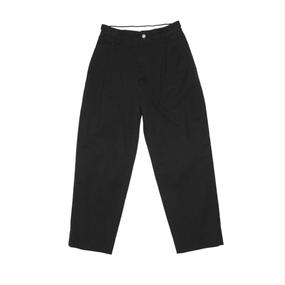 Hight Waisted Ventile Pants.  -Black-