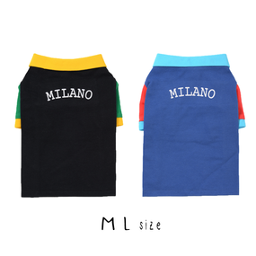 M-L ポロシャツ(Black/Blue) TT102009-2