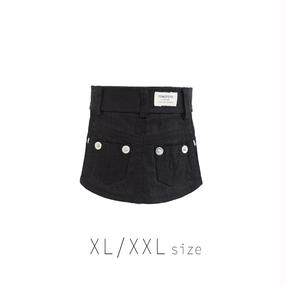 XL-XXL カラーデニムスカート (Black) TT104029-3