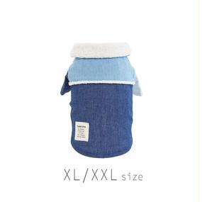 XL-XXL ボア付きデニムシャツ (Blue) TT102026-3