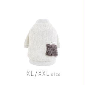XL-XXL ファーポケット付きカーディガン (Gray) TT102024-3