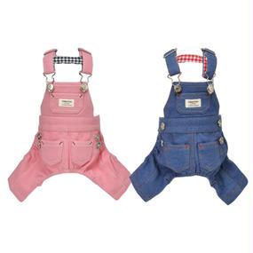 M-L デニムサロペット ( Pink/Blue ) TT113052-2
