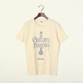 """沖仁 """"Guitarra Flamenca Tシャツ""""(オフホワイト)"""