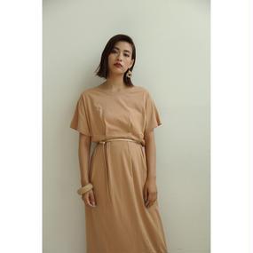 Waist Tuck Camel T Dress (ds109)