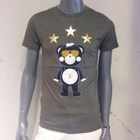 【TANTA】リッチゴールドスタッズチャッピーTシャツ カーキ