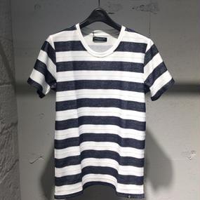 【Custom Culture】ジャガードボーダーTシャツ ネイビー