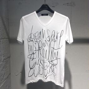 "【Custom Culture】""Scrawl"" Tシャツ ホワイト"