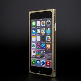 【iPhone6/6S用:シャンパンゴールド】ジュラルミン削り出しケース