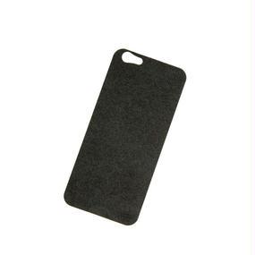 【iPhone6/6S用:バックプレート】アルカンターラ(ブラック)