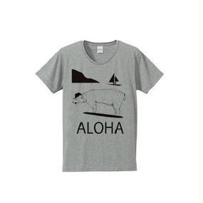 ALOHA BEAR(4.7oz T-shirt gray)